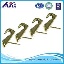 Fasteners 10-Pound Push Pin Hanger Brass Finish High Heeled Design