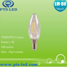 C35 1W 2W LED de 4W de 3W filamento iluminación de la vela