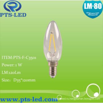 C35 1W 2W 3W 4W светодиодные накаливания свеча освещение