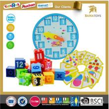 Brinquedos educativos figura figura blocos e conjuntos de matemática cubo de plástico bloco de construção