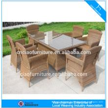 C-TC-104 table à manger ensemble rotin mobilier d'extérieur
