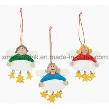 Presentes de decoração de anjo, Presentes de ornamento de promoção suspensa de Natal