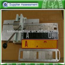 Hand manual vehicle license plate making machine
