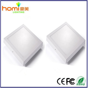 24W 80lm/w, surface square led panel light IC driver CE series 2 year warranty