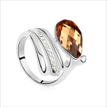 VAGULA moda mulheres anel anel grosso Zirconia cúbico