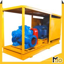 Bomba de água de grande fluxo de irrigação agrícola com armário de controle