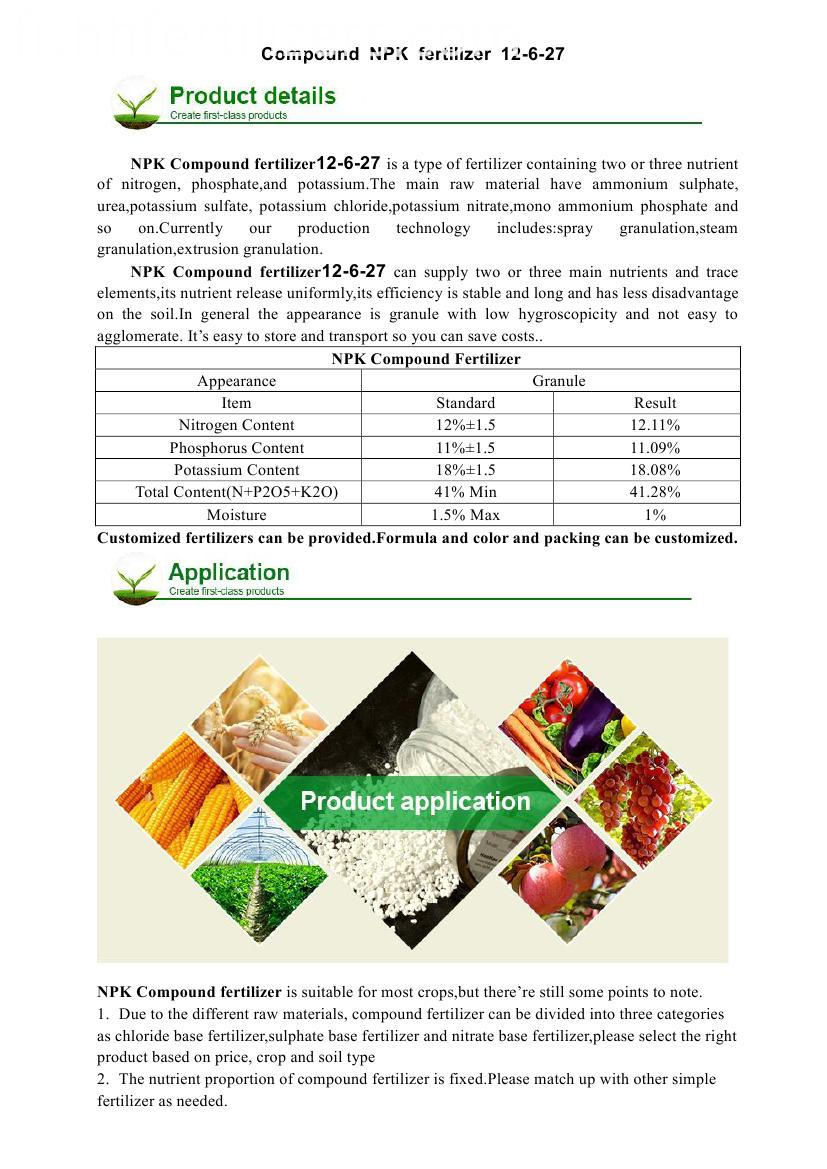 compound NPK fertilizer