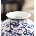 Traditional Chinese blue and white porcelain vases