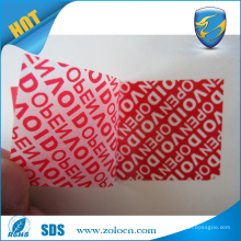 Red VOID tape for security sealing warranty void label for box packaging