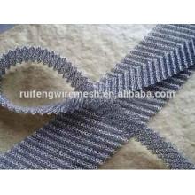 Tissu de treillis métallique tricoté