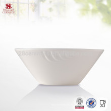 Los productos del hotel conjunto de cena blanca llanura conjunto de tazón de porcelana blanca