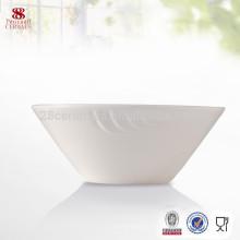Produits d'hôtel plaine blanc ensemble de dîner blanc porcelaine bol ensemble