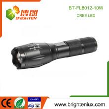 Fabrik Versorgung 1 * 18650 Lithium-Batterie angetriebene Aluminium Notfall Zooming 10watt Cree die meisten leistungsstarke LED wiederaufladbare Fackel Licht