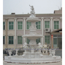 Garden Water Fountain with Carved Stone Marble Sculpture (SY-F203)