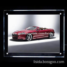 Super Slim Crystal Acrylic LED Light Box for Advertisement, with Built-in LED Straw Hat Lamp Bar