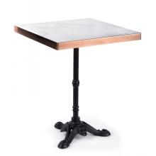 Tables de salle à manger carrées en contreplaqué multicouche en marbre