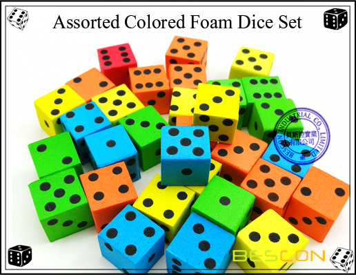 Assorted Colored Foam Dice Set-2