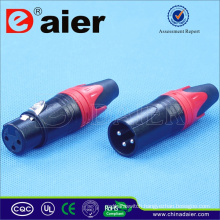 Colored 3 Pin Male To Famle Jack XLR Connector, Connector Pin=