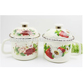 12cm(900ml) color body enamel mugs