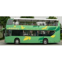 Open top double decker sightseeing bus