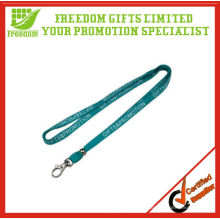 Logo Customized Polyester Thin Lanyard