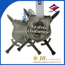 Medalla de Premio Guerrero Medalla de Regalo personalizado de Grafen Challenge 2017