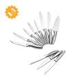 Set de couteaux de cuisine en acier inoxydable avec support en acrylique