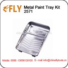 Cepillo del rodillo de pintura de la bandeja de pintura de metal