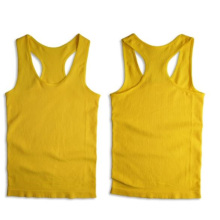 Costela sem costura Sporting costas nadador estampa colete sensual para mulheres