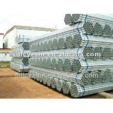 tubo de tubo de canalização de aço rígido galvanizado