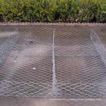 Горячая Окунутая Гальванизированная Шестиугольная Коробка Gabion Провода