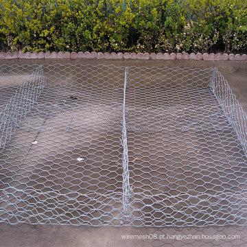 Caixa sextavada galvanizada mergulhada quente de Gabion do fio