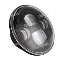 12V / 24V 7 polegadas redondo LED farol de caminhão de 70W