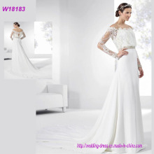 2017 Hot Selling Long Sleeve Lace Bridal Wedding Dress