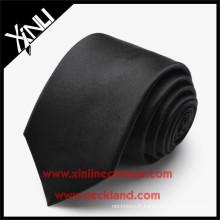 100% fait à la main tissés chinois hommes court cravates en soie satin