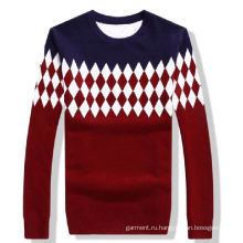 Женщины моды хлопок вязание свитер