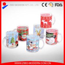 Tasse en verre de Noël Tasses de Noël