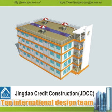 Niedrige Kosten und schneller Bau von vorgefertigten Hotel