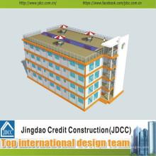 Bajo costo y construcción rápida de hotel prefabricado