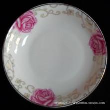 assiette en porcelaine bon marché, assiette chinoise, assiette à soupe