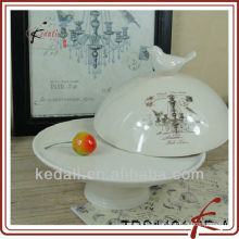 "8"" ceramic cake plate with lid"
