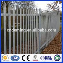 DM en poudre antidouleur prix d'usine clôture en acier à palissade, palissade en acier à faible prix