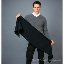 Echarpe 100% pour hommes en laine
