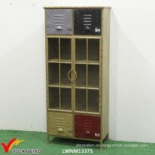 Gabinetes hechos a mano del metal de la vendimia para la exhibición del almacenaje