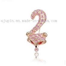 Broche en cristal de cristal de bijoux de costume classique de mode faite sur commande