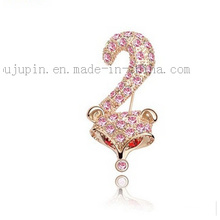 Custom Fashion Classical Costume Jewelry Crystal Pin Brooch