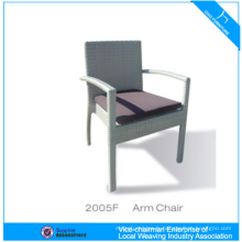 Dining Wicker Furniture Rattan Arm Chair With 5cm Cushion