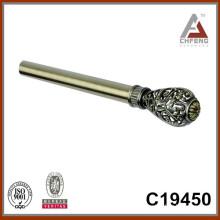 C19450 hot sale fancy curtain rod finials,double single rail curtain rod accessories