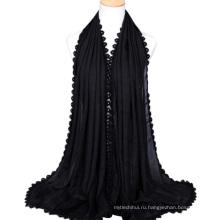2017 самых популярных шелк чувствовать себя дамы шарф хлопок хиджаб оптом платок для женщин