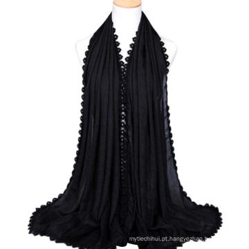 2017 mais popular sensação de seda senhoras lenço de algodão hijab atacado lenço de cabeça para as mulheres